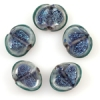 Lamp Bead Seashell 5Pc 22x18mm Midnight Blue Dichroic